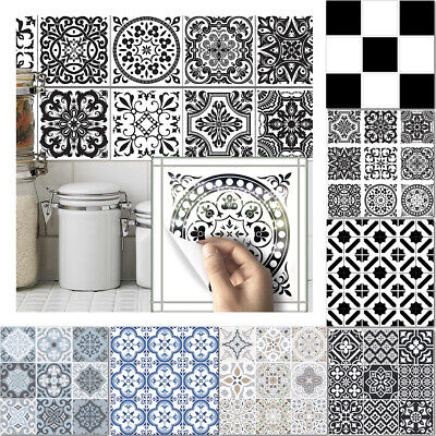 10pcs Moroccan Style Tile Wall Stickers, Bathroom Tile Decals Uk