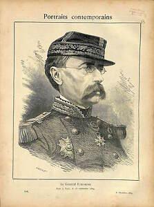 PORTRAIT-GENERAL-FAIDHERBE-ALLEGORIE-GUERRE-1870-1889-GRAVURE-ANTIQUE-PRINT