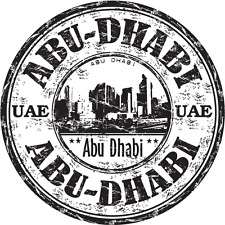 "Abu Dhabi United Arab Emirates UAE City Travel Car Bumper Sticker Decal 5"" x 5"""
