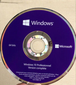 DVD-WINDOWS-10-PRO-PROFESSIONEL-64BIT-Francais-VENDU-SANS-LICENCE