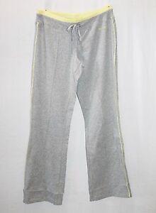 TARGET-ACTIVE-Brand-Grey-Yellow-Trim-Track-Pant-Size-14-BNWT-SD24