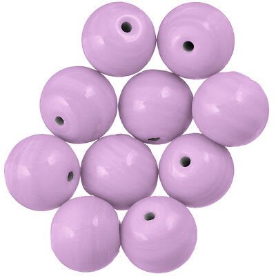 Shiny Lilac Handmade Opaque Round Glass Beads 14mm Pack of 10 A41//12
