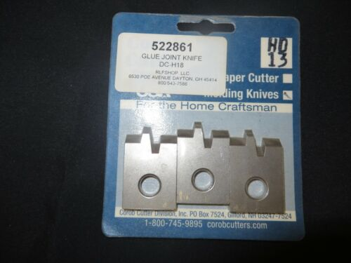 Corob Cutter Molding Knives #13 Glue Joint Profile for Shopsmith Cutter Heads
