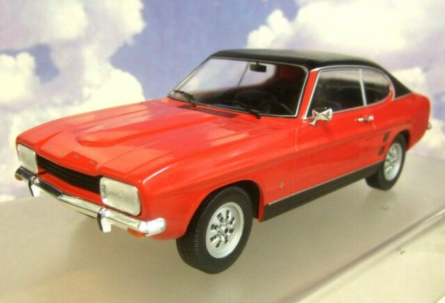 MCG MODEL CAR GROUP 1/18 DIECAST 1973 MKI MK1 FORD CAPRI GT RED WITH BLACK ROOF