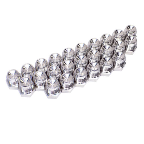 (Lot of 25) Swagelok 316 Stainless 1/2 Male VCR Face Seal Plug Fittings