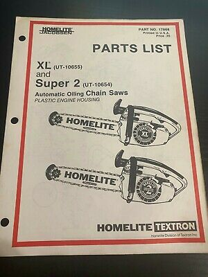 Homelite parts list XL and Super 2 Automatic oiling chainsaws p8 | eBayeBay