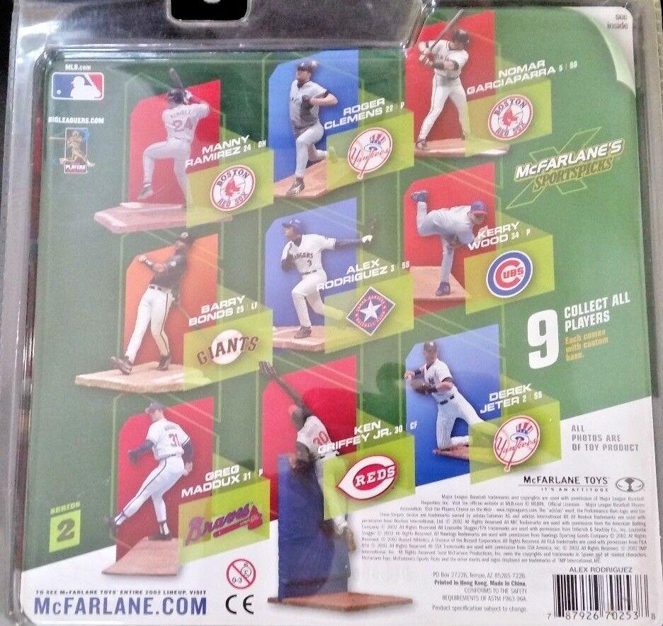 2002 McFarlane Baseball Series Series Series 2 Alex Rodriguez White Action Figure f6c7e3