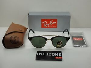 0fcf9753c3607 Image is loading RAY-BAN-CLUBROUND-DOUBLE-BRIDGE-SUNGLASSES-RB4346-901-
