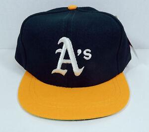 Image is loading Vintage-Oakland-Athletics-Green-Yellow-Logo-Childs-Snapback - a2e49e2cb54