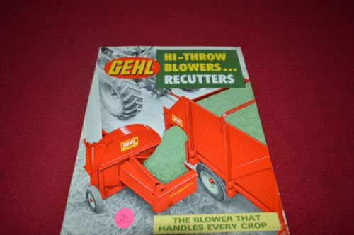 Gehl HiThrow Blowers Recutters Dealer's Brochure AMIL9 ver2