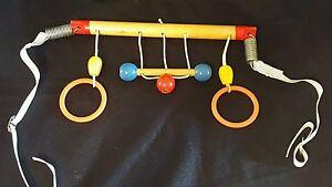 Vintage Crib Toy Hanger Wooden
