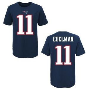 84fdd3679 Image is loading New-England-Patriots-Julian-Edelman-Blue-Youth-Nike-