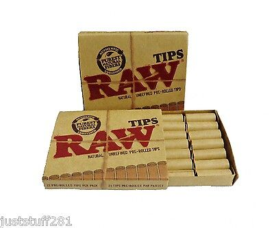 Raw Pre Rolled Natural Cigarette Filter Paper Tips 2