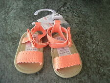BABY GIRL'S PRE WALKER SUMMER SANDALS PRAM SHOES - UPTO 3 MONTHS 62cm - BNWT