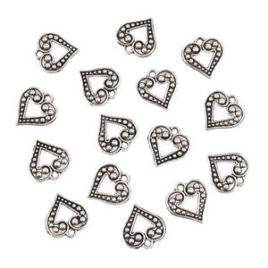 Fancy-Open-Metal-Heart-Charms-15-Pack-Craft-For-Occasions-Small-C2309