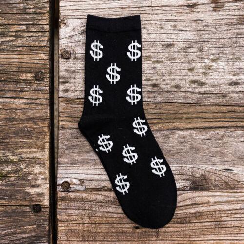 Men Unique Funny Floral Socks Unisex Socks Cotton Stocking Casual Wild Long Sock