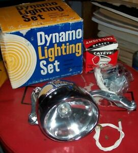 VINTAGE ANTIQUE MUSCLE BIKE BICYCLE TAIL LIGHT REFLECTOR LENS LIGHT DYNAMO NOS