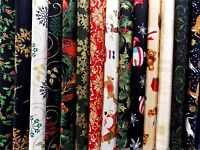Assorted Christmas 40 Piece Charm Pack 5 Squares Quilt Fabric Premium Cotton