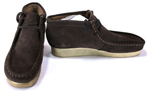 Details About Clarks Shoes Padmore Wallabee Suede Classic Brown Boots Size 8 5