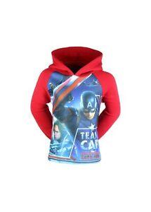 Sweats à capuche enfant garçon capitaine America Avengers livraison gratuiteRoug