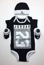 JORDAN Baby BOYS 3-peace Outfit Gift Set: Bodysuit, Booties & Cap 0-6 Months.