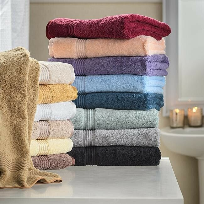 6-pc 6-pc 6-pc Weiß Superior 600 GSM Combed Cotton Towel, Hand Towel, Washcloth Set 70fcd2