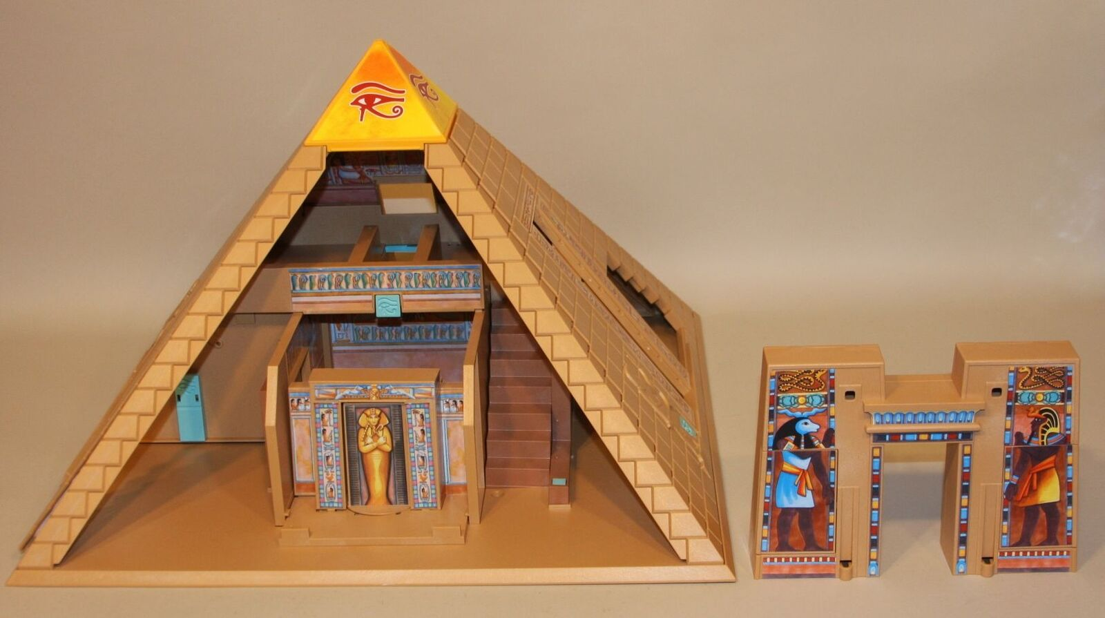 Playmobil Egyptian Pyramid 4240 in Box + Pharaoh's Temple 4243 (Partial Sets)