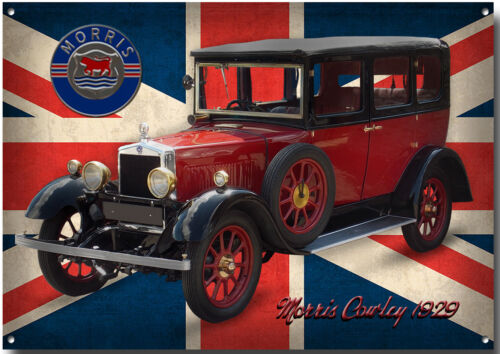 MORRIS COWLEY 1929 METAL SIGN.HIGH GLOSS FINISH,CLASSIC BRITISH MORRIS CARS.