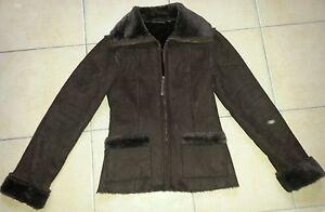 Manteau-marron-Kiabi-taille-36-interieur-tout-doux-cadeau