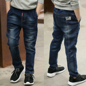 fe764559a3 Details about Kids Boys Clothing Pants Child Boy Denim Jeans Trousers  Bottoms Size 5-10 Years