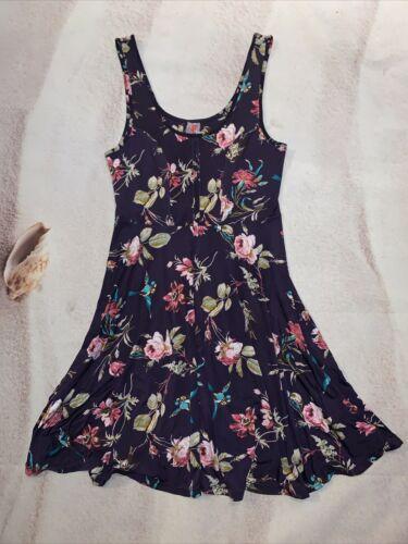 Free People Women's Purple Floral Slip Dress Sz S… - image 1