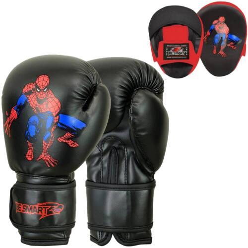 Bambini Boxe Focus Pads Gancio E Jab Guanti Pro Lotta Allenamento Punch Guanti MMA