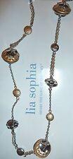 """NWT/NIB - LIA SOPHIA """"JETTISON"""" 38-41"""" NECKLACE - SILVER/GOLD - 2012/$48"""