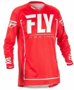 Fly-Racing-2018-Light-Idrogeno-Adulti-Motocross-MTB-Jersey-Rosso-Grigio