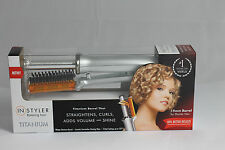 InStyler Rotating Iron - 19mm Titanium Barrel - Straightens & Curls - SILVER