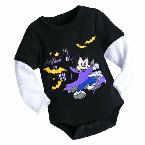 Disney Mickey Mouse Halloween Vampire Baby Bodysuit Size 3 6 9 12 18 24 Months