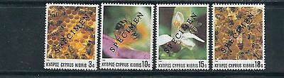 Vf Mnh Kaufe Jetzt scott 729-32 Specimen Überdruck Zypern 1989 Apiculture Bienen