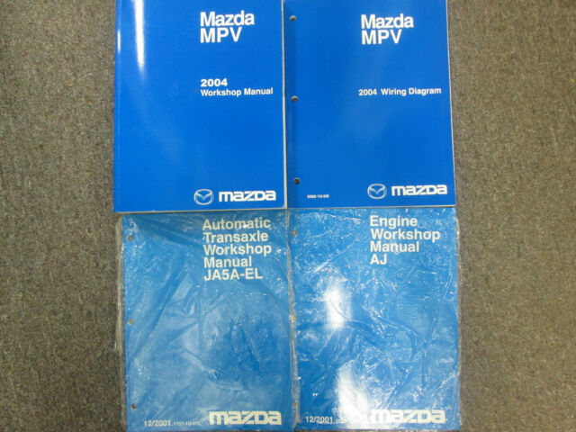 2001 Mazda Mpv Service Shop Repair Set Oem Service And The ...