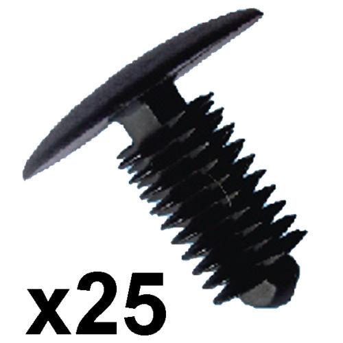 24mm Tête pour 9-10mm Trou 25x Enjoliveur PLASTIQUE Clips