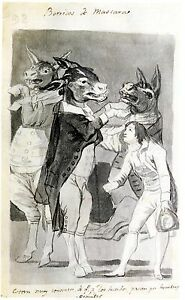 Goya Drawings Social Satire 3 Studies 3 Fine Art Prints Ebay