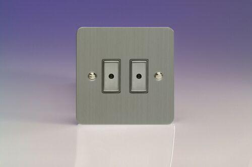 Varilight Ultraflat Brushed Steel XFSW Flat Light Switch Socket Dimmer Toggle TV