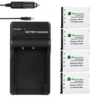 Np-20 Battery Pack For Casio Exilim Ex-z60 Ex-z70 Ex-z75 Ex-z77 Ex-s880 +charger