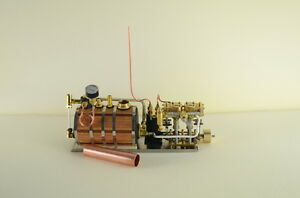 Neue Zwei-Zylinder-Dampfmaschine Live-Dampf mit Dampfkessel   eBay