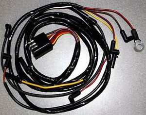 new 1966 ford mustang under hood wire wiring gauge feed usa made ebay. Black Bedroom Furniture Sets. Home Design Ideas