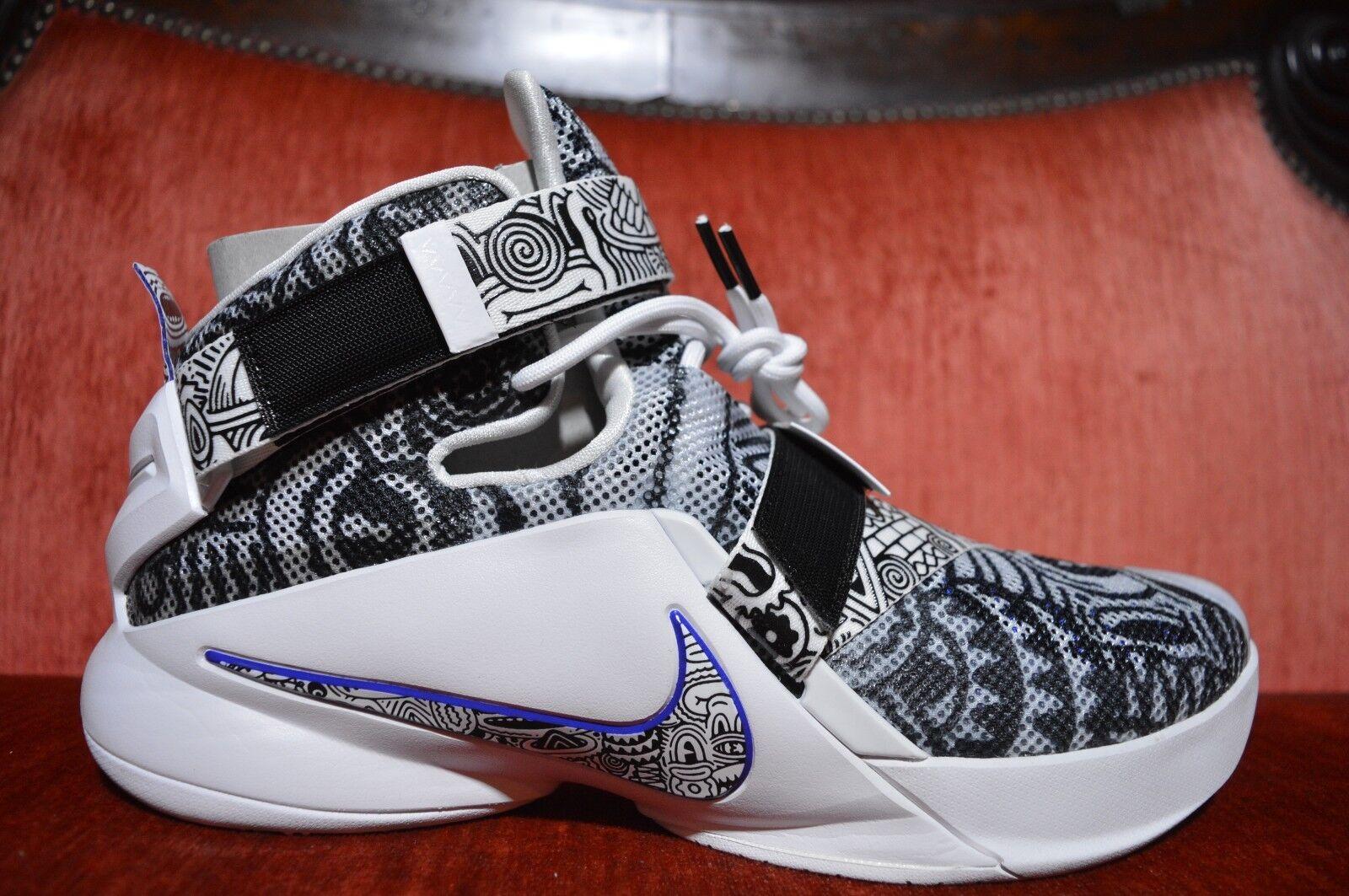 Nike lebron james taglia 12 uomini 810803 014 soldati freegum limted bianco nero