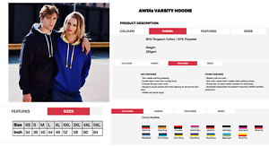 Embroidered-with-your-custom-logo-hoodie-choice-of-6-hoody-styles-amp-colours-BNWT
