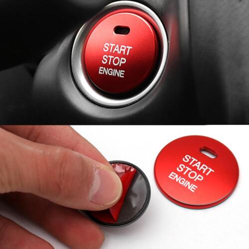 Engine Start Stop Push Button Cover Trim for Mazda 3 Axela CX-3-4-5 Red