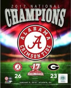 67b9665ed69 Details about Alabama Crimson Tide 2017 New NCAA Football National  Champions CFP 8x10 Photo #2