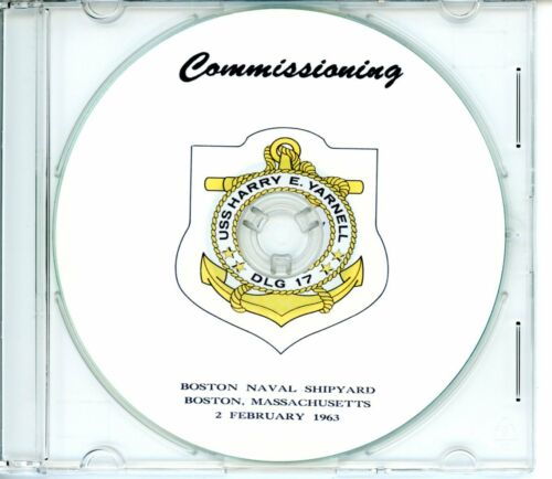 USS Harry E Yarnell DLG 17 Commissioning Program 1963  Navy Plank Owners