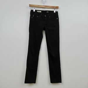 AG-Adriano-Goldschmied-Jeans-The-Stevie-Slim-Straight-Black-Size-24